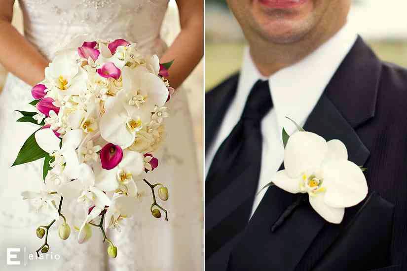 орхидея свадебный букет фото