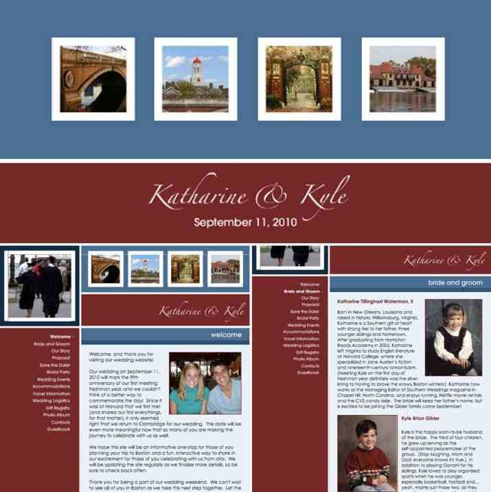 The Knot offers free wedding websites as do many others