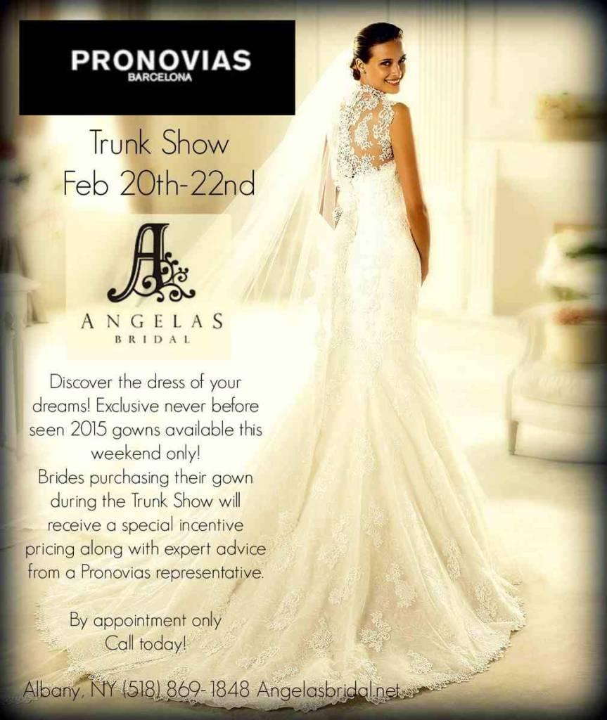 Pronovias Trunk Show at Angela\'s Bridal | Aisle Files
