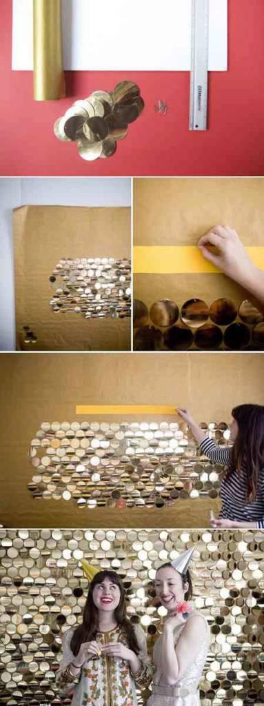 DIY Gold Glitter Photo Back Drop!