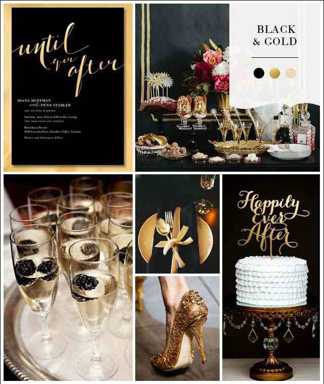 Black And Gold Wedding Decorations: It's Almost New Years Eve, What About A Wedding! : Black