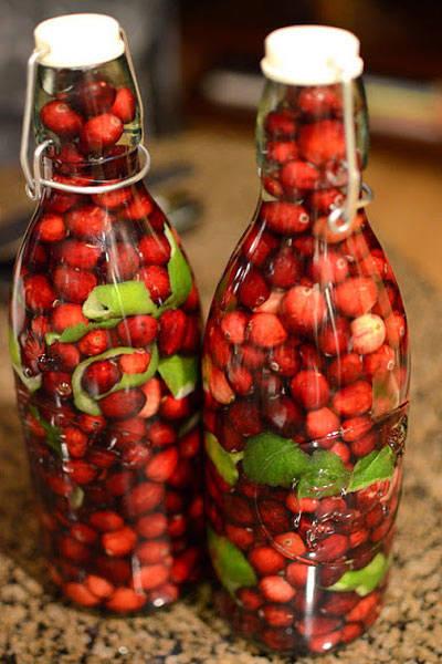 winter-wedding-favors-cranberry-vodka-fancy-napkin