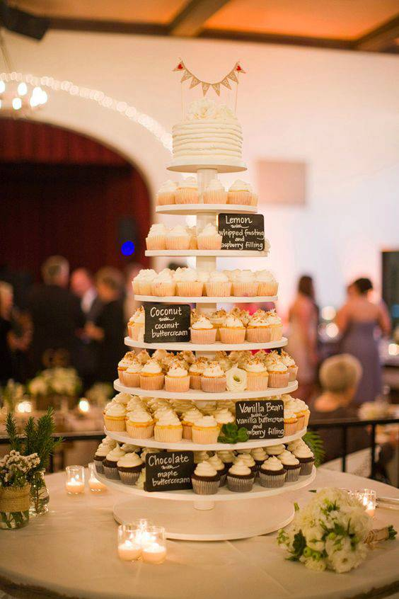 They're sweet, Trendy and Transforming the Wedding Dessert Scene. Cupcakes.