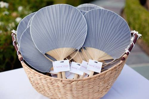 grey-fan-summer-wedding-favors