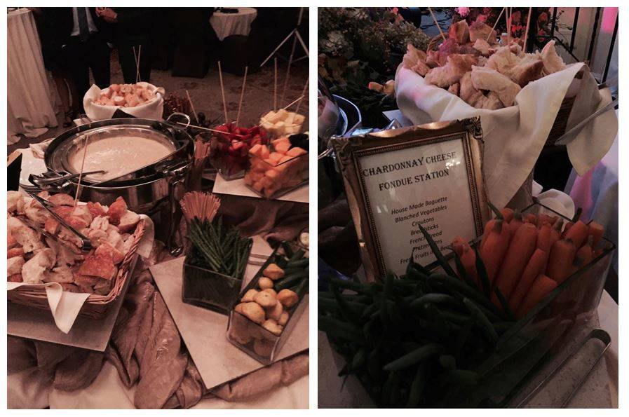 The Chardonnay cheese fondue station, photo courtesy of Kevin Sykes.