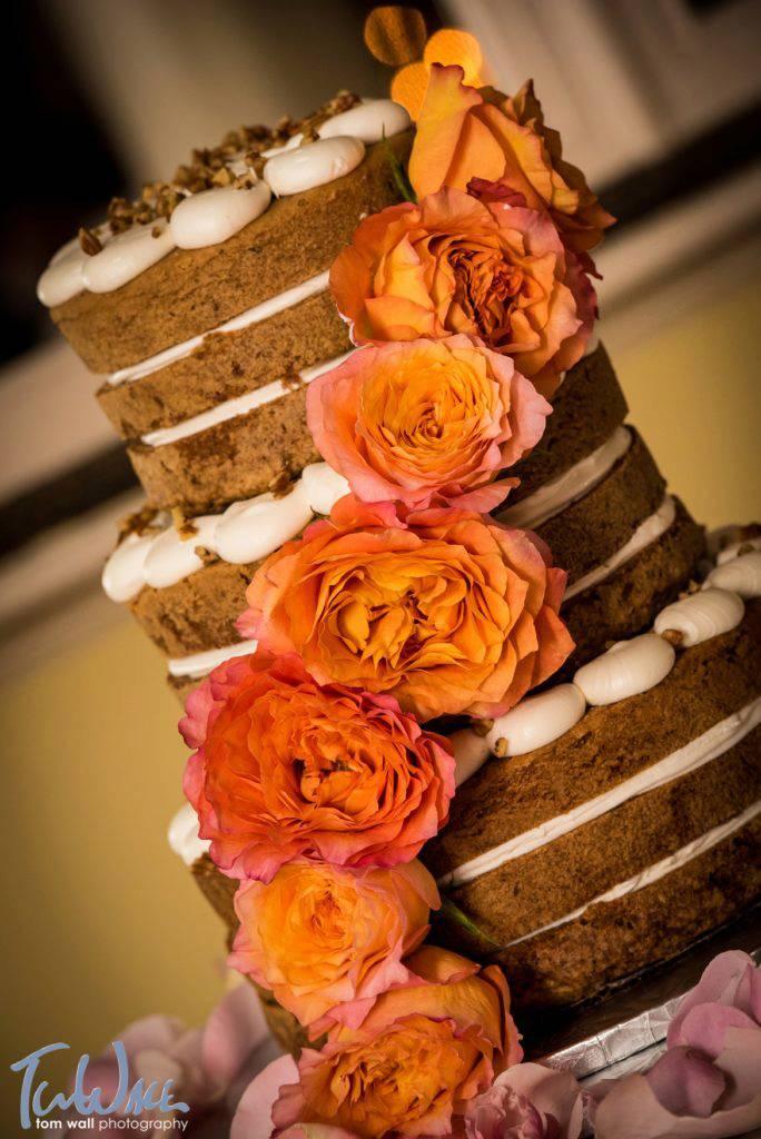 Naked carrot cake (family recipe) created by Mazzone Bakery.